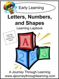 Letters Numbers Shapes