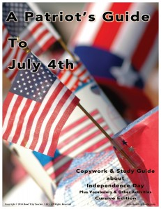 Cover CURSIVE July 4th Study Guide