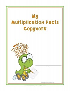Multiplication Copywork Cover Only